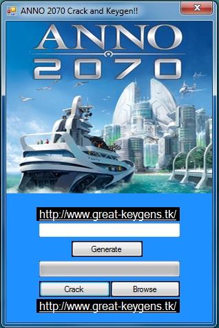 Anno 2070 serial key free download